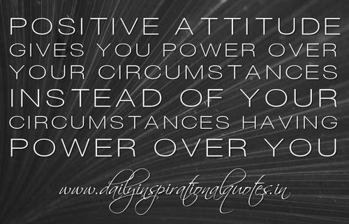Power of positive attitude